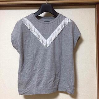 ナノユニバース(nano・universe)のナノユニバース フリンジ Tシャツ 半袖(Tシャツ(半袖/袖なし))