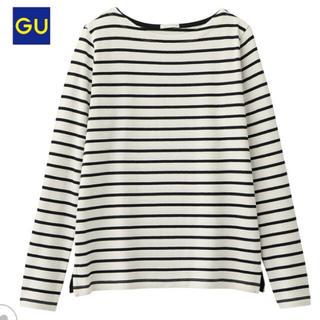 ジーユー(GU)のGU ボーダーボートネックT(Tシャツ(長袖/七分))