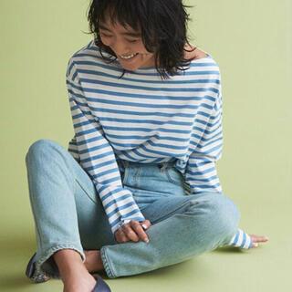TOMORROWLAND - トゥモローランド×金子綾 ボーダーカットソーS ブルー