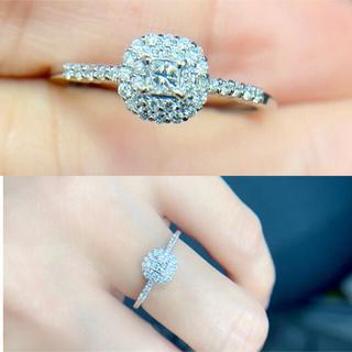 ☆送料込み☆新品上品繊細計0.302ctダイヤモンドpt950リング(リング(指輪))