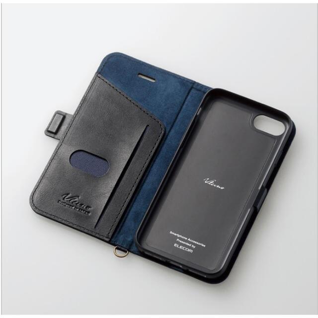 ELECOM(エレコム)のiPhone7&8 第二世代SE ブラック スマホ/家電/カメラのスマホアクセサリー(iPhoneケース)の商品写真