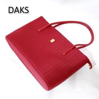 ダックス(DAKS)の【超美品♪】DAKS ダックス  ショルダーバッグ レッド(ショルダーバッグ)