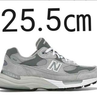 ニューバランス(New Balance)の25.5㎝ NEW BALANCE M992GR GREY(スニーカー)