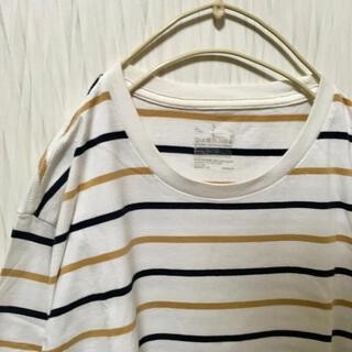 ムジルシリョウヒン(MUJI (無印良品))の無印良品 シンプルツートーンボーダーTシャツ(Tシャツ/カットソー(半袖/袖なし))