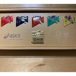 アシックス(asics)の値下げ アシックス オリンピック パラリンピック ピンバッチ ピン 新品未使用(ノベルティグッズ)