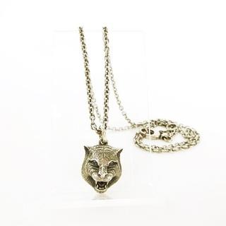Gucci - グッチ GUCCI キャットヘッド シルバー ネックレス 925 猫 ペンダント
