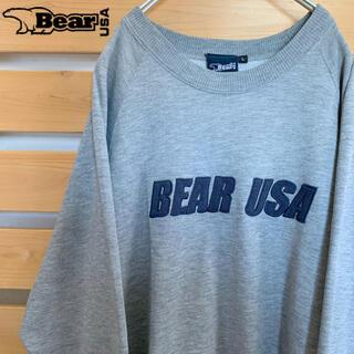 ベアー(Bear USA)のBear USA スウェット トレーナー グレー ビッグシルエット Lサイズ(スウェット)