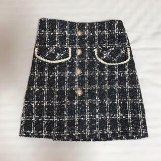 ティティアンドコー(titty&co)のtitty&Co. ツイードスカート(ミニスカート)