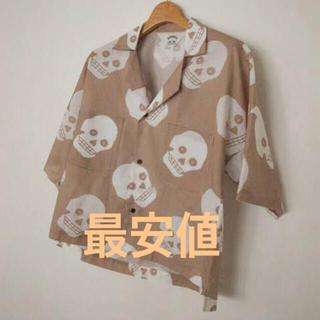 サンシー(SUNSEA)のSUNSEA スカルシャツ KEEFS FRIED SHRIMP SHIRTS (シャツ)