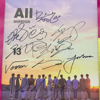 セブンティーン(SEVENTEEN)のseventeen 直筆サイン アルバム 非売品 All 13(K-POP/アジア)