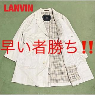 ランバン(LANVIN)の【高級】LANVIN ランバン トレンチコート チェック柄 ベージュ(トレンチコート)