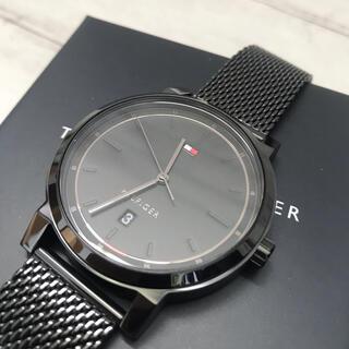 トミーヒルフィガー(TOMMY HILFIGER)の【海外限定】トミーヒルフィガー メンズ 腕時計 クオーツ メッシュベルト 黒(腕時計(アナログ))