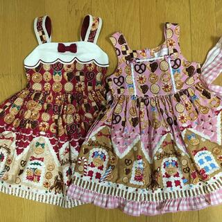 シャーリーテンプル(Shirley Temple)のシャーリーテンプル お菓子のおうジャンパースカート セット 110(ワンピース)