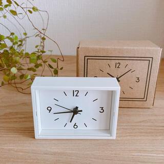 ムジルシリョウヒン(MUJI (無印良品))の無印良品  駅の時計ミニ  小さくて可愛い  裏にマグネット付き  新品未使用(置時計)