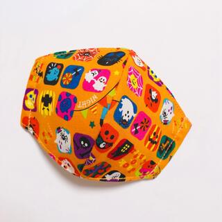 10-2 ハロウィン オレンジ 幼児マスク クール(外出用品)