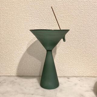 Glass Incense Burner Frosted Teal Green(お香/香炉)