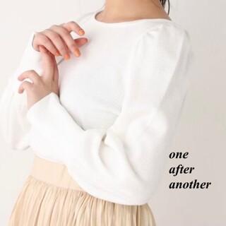 ワンアフターアナザーナイスクラップ(one after another NICE CLAUP)の新品 one after another ハニカムトップス(カットソー(長袖/七分))