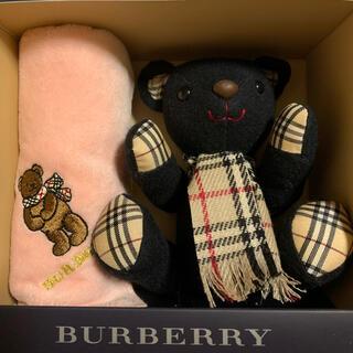 BURBERRY - バーバリー ベアー&タオルハンカチ