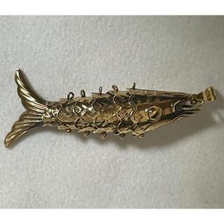 希少!K18ゴールドフィッシュ 大型ペンダント(ネックレス)