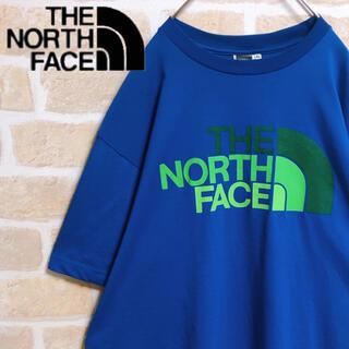 ザノースフェイス(THE NORTH FACE)のTHE NORTH FACE Tシャツ 半袖 青 ブルー デカロゴ 人気 XL(Tシャツ/カットソー(半袖/袖なし))