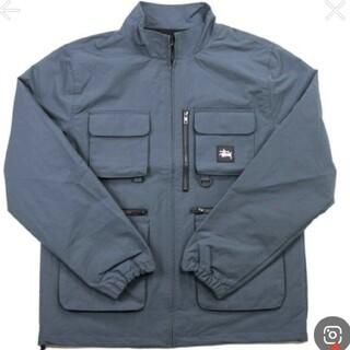 ステューシー(STUSSY)のステューシー ジャケット ネイビー stussy utility jacket(ナイロンジャケット)