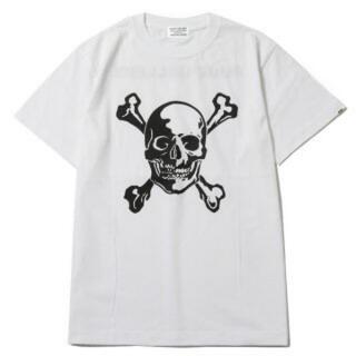 ルードギャラリー(RUDE GALLERY)の値下げ ルードギャラリー スカル tシャツ Lサイズ ホワイト(Tシャツ/カットソー(半袖/袖なし))