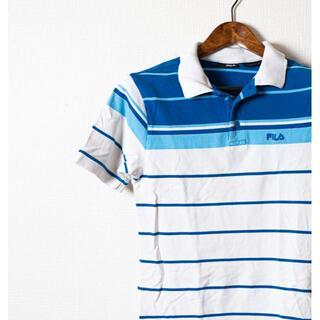フィラ(FILA)のFILA フィラ ポロシャツ半袖 ボーダー(ポロシャツ)