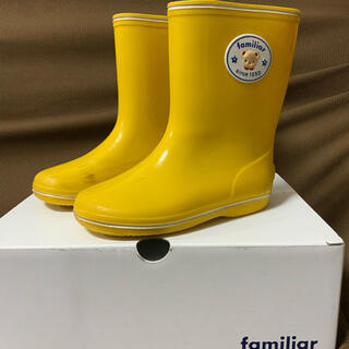 familiar - ファミリア レインブーツ 長靴 イエロー 16センチ
