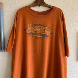 Harley Davidson - 90s 希少 ハーレーダビッドソン Tシャツ 両面プリント ゆるだぼ デカロゴ