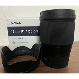 SIGMA - SIGMA 16mm F1.4 DC DN SONY-Eマウント