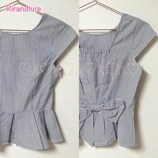 リランドチュール(Rirandture)のRirandture♡バックリボンペプラムブラウス(シャツ/ブラウス(半袖/袖なし))