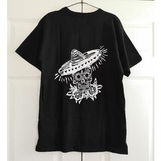 チャイハネ(チャイハネ)の新品タグ付き チャイハネメンズカラベラプリントTシャツエスニックメキシカンドクロ(Tシャツ/カットソー(半袖/袖なし))