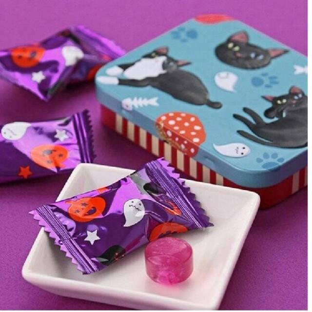 KALDI(カルディ)のハロウィン ミニネコ缶 食品/飲料/酒の食品(菓子/デザート)の商品写真