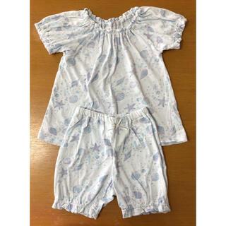 アンパサンド(ampersand)のアンパサンド 水色 半袖パジャマ 110cm 上下セット(パジャマ)