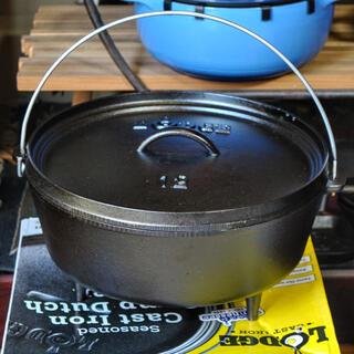 ロッジ(Lodge)のロッジLODGE米国製キャンプオーブン【10インチ】ダッチオーブン焚火アウトドア(調理器具)