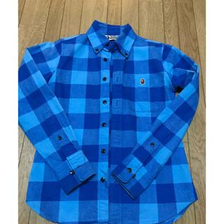 A BATHING APE - Bape シャツ 長袖 チェックシャツ