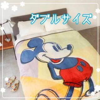 ユニクロ(UNIQLO)の【週末SALE‼️売切商品‼️】ディズニーヒートテック毛布  ダブル(毛布)