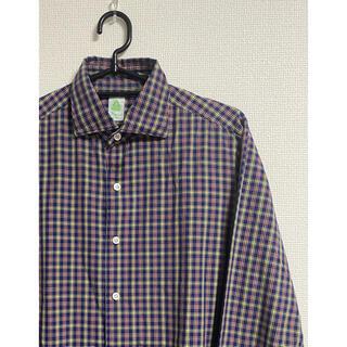 バルバ(BARBA)のフィナモレ finamore  チェックシャツ 長袖シャツ Blue系 39(シャツ)