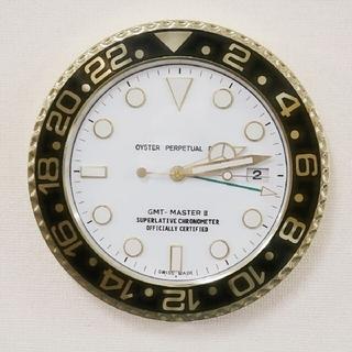 レア★YouTuber愛用 壁掛け時計 黒 金 時計 GMT 風 腕時計 オメガ