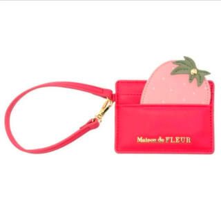 Maison de FLEUR - 定価以下❤完売商品【メゾンドフルール】いちごモチーフカードケース(ピンク)