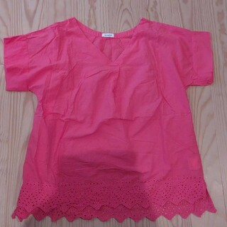 coen - coen ブラウス シャツ 裾レース ピンク