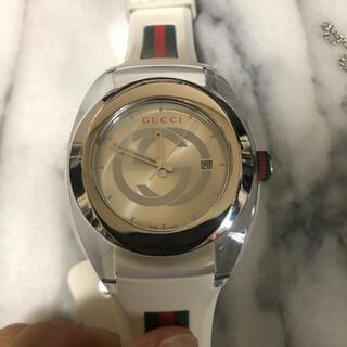Gucci - GUCCI WATCH SYNC☆グッチ腕時計ホワイトシルバー★