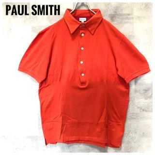 ポールスミス(Paul Smith)の極美品⭐️Paul Smith 切り替え ゴールドボタン オレンジ ポロシャツ(ポロシャツ)