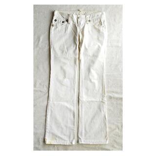 ディースクエアード(DSQUARED2)のディースクエアード ホワイト パンツ 40 L レディース 白 フレア デニム(デニム/ジーンズ)