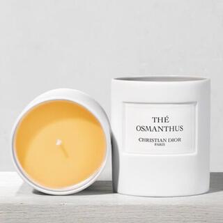 ディオール(Dior)の【新品美品】Dior キャンドル + 蓋( オスマンサスの香り)(キャンドル)