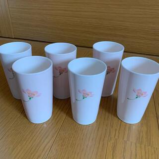 タチキチ(たち吉)の【未使用品】 橘吉 たち吉 フリーカップ 湯呑み 花柄 6個セット(グラス/カップ)