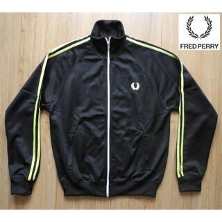 フレッドペリー(FRED PERRY)の美品 フレッドペリー トラックジャケット 黒/黄(ジャージ)