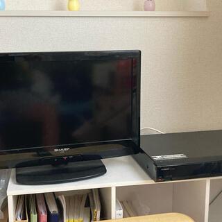 SHARP - 9/30まで 愛知県江南市まで取りに来て頂ける方限定 テレビ BRレコーダセット