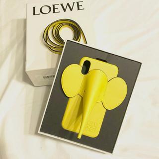 ロエベ(LOEWE)の新品ロエベLoewe iPhone X/XS エレファントスマホケース イエロー(iPhoneケース)