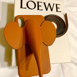 ロエベ(LOEWE)の新品Loeweロエベ iPhone X/XS エレファントスマホケース ブラウン(iPhoneケース)
